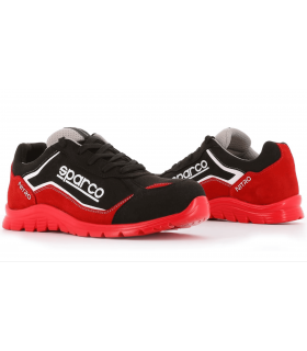 Zapato Laboral Nitro de Sparco Negro y Rojo