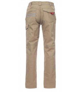 Pantalón laboral Worker beige espalda