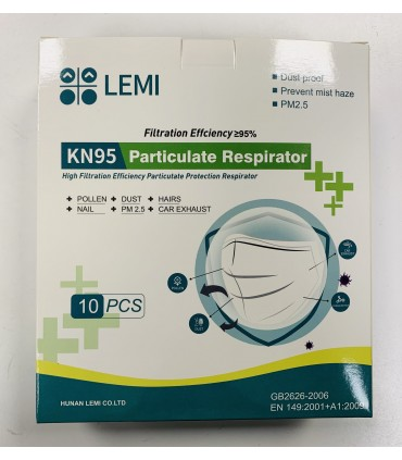 Caja de 10 mascarilla KN95 FPP2