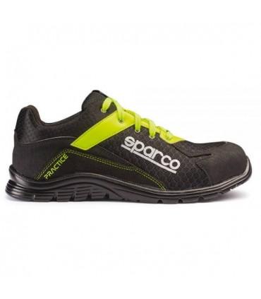 Zapato de seguridad Sparco Practice Amarillo y Negro S1P