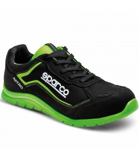 Calzado de seguridad Nitro S3 Negro y Verde