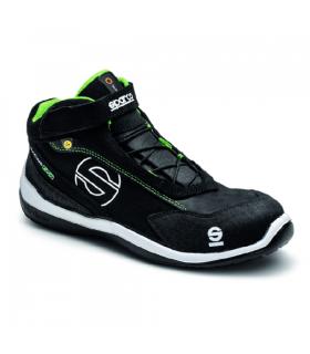 Bota de Seguridad Racing Sparco negra y verde