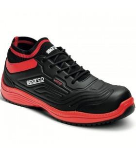 Zapato de Seguridad Legend S3 SRC ESD Negro y rojo