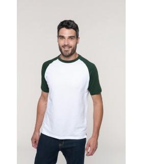 Camiseta K330 de Kariban bicolor manga corta