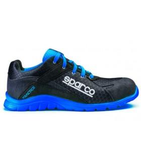 Zapato de seguridad Sparco Practice Negro y Azul S1P